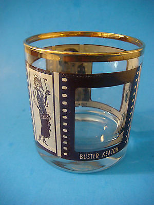 Tumbler Mixed Drink Glass ROARING TWENTIES Buster Keaton,Lionel Barrymore MOVIES
