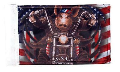 GREAT AMERICAN HAWG MOTORCYCLE FLAG 6 X 9 with mounting loop auction