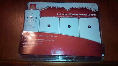 New Home Accents 3 pk Indoor Wireless Remote Controlled Grounded Outlets 110 395