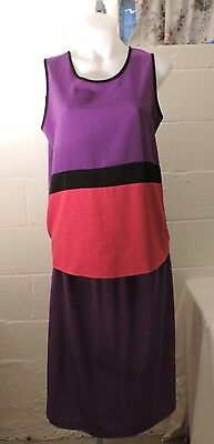 Maggie Sweet polyester, purble, shirt and skirt set size M
