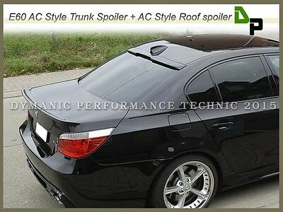 #668 Jet Black AC Type Trunk & Roof Spoiler For BMW E60 528i 530i 535i 4Dr 04-10