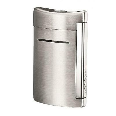 S.T. Dupont MiniJet Torch Flame Lighter, Brushed Chrome, 10067, New In Box