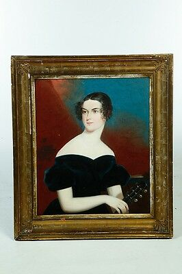 FRAMED OIL ON CANVAS PORTRAIT OF A LADY. Lot 1035