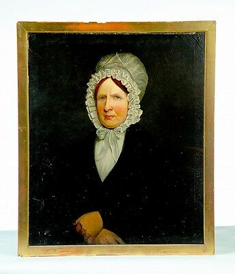 OIL ON CANVAS PORTRAIT OF A LADY. Lot 1389