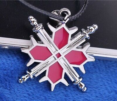 Vampire Knight Logo Necklace Pendant Anime Cosplay with Black Rope