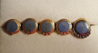 Pan Am Service Pin Collection 5 - 10 - 15 - 20 - 25 years 10K gold