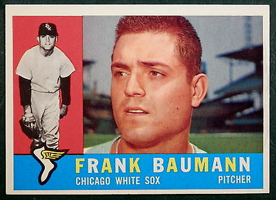 1960 TOPPS CARD #306 - FRANK BAUMANN - CHICAGO WHITE SOX - EXCELLENT CARD