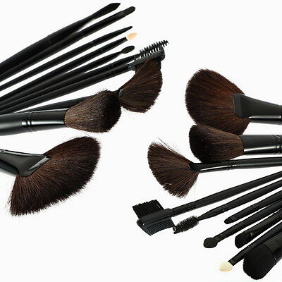 32 Pcs Professional Makeup Eyebrow Shadow Cosmetic Brush Set Kit With Pouch  FE