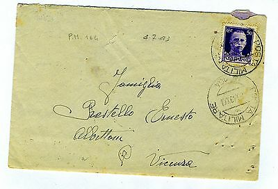 ITALY  1943  cover st. canc. POSTA MILITARE N.164  to Italy
