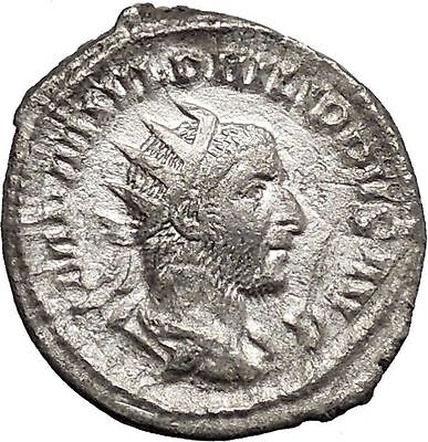 Philip I 'the Arab' Silver Ancient Coin Equality Fair trade Symmetry  i48762