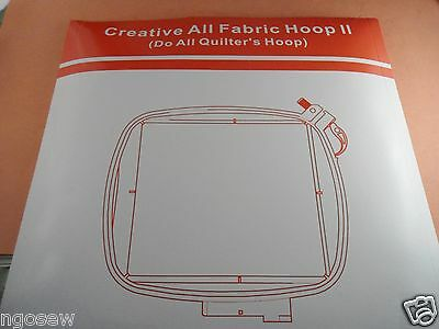 CKPSMS Brand #920115096 1SET Do All Quilters Hoop 150x150mm FIT for Viking Designer Ruby Deluxe Platinum #920115096