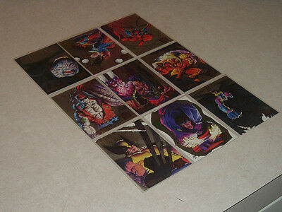 1995 X-MEN HUNTERS & STALKERS~Fleer Ultra Rare Silver Variation~ SET/9~'95