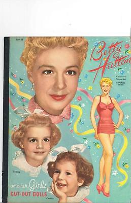 Vintage Uncut 1951 Betty Hutton Girls Paper Dolls Hd Laser Reproduction~Lo Pr