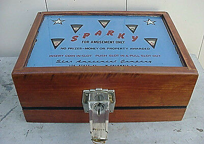 SPARKY 5 CENT COIN OPERATED POKER TRADE STIMULATOR No Reserve