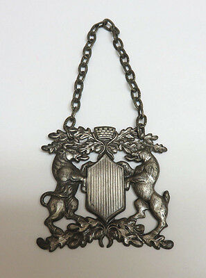 Vintage Silverplate Wall Hanging CIVIC ARMORY CREST / COAT OF ARMS ~ Bull & Bear