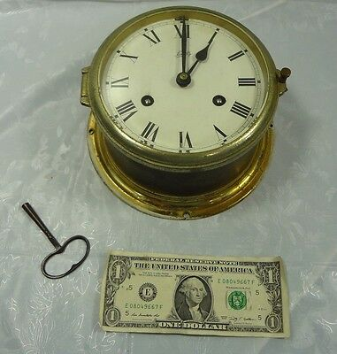 Schatz MARINE CLOCK - Brass with Key - Works