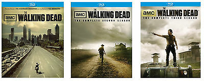 New Sealed The Walking Dead - The Complete Seasons 1-3 Blu-ray Disc 1 2 3