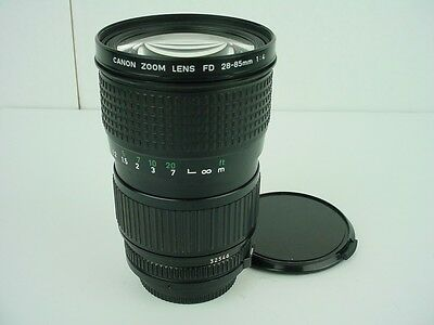 CANON FD 28-85MM F4 LENS MANUAL FOCUS for CANON F-1 T90 A-1 AE-1P AE-1-CLEAN!