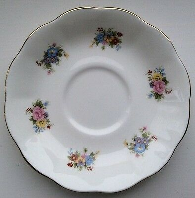 Royal Albert, Bone China, saucer with a delicate floral pattern