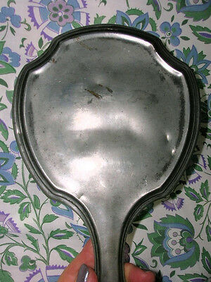 SILVER Plate  HAND MIRROR  Antique Vintage Wallace Brothers Company 700 Vanity