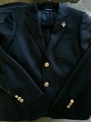 BOYS BROOKS BROTHERS 2 Button Sport Coat 12 Super 120s Garment bag extra buttons