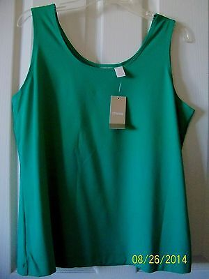 Chico's Microfiber Contemporary Tank SEE COLORS AVAILABLE  Size 2 = 12 New