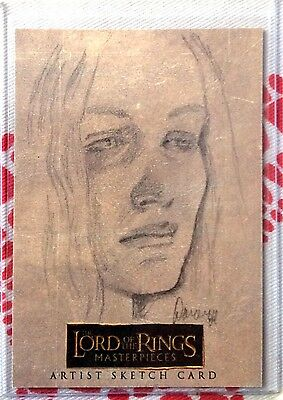 Topps LOTR Lord Of The Rings Masterpieces Doran sketch card Eowyn