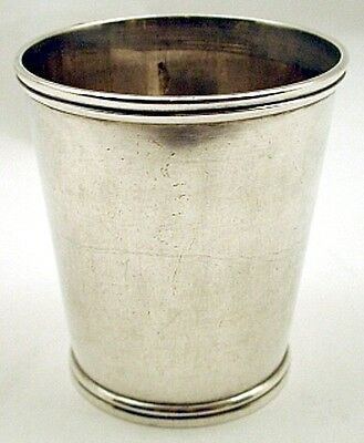 Coin silver julep cup, R & A Campbell, Baltimore MD c.1840