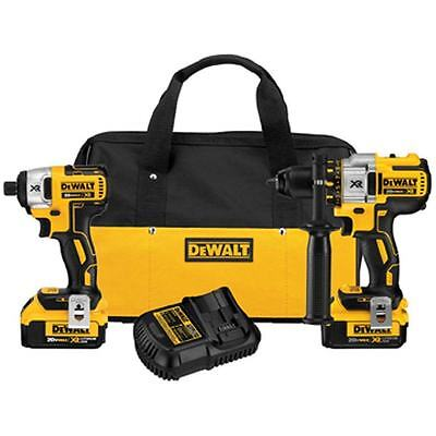 NEW!!  DeWALT DCK296M2XR hammer drill/impact-gun brush less 20volt. XR lithium