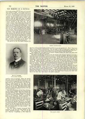 1899 The Making Bicycle New Rapid Cycle Company Ca Palmer