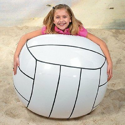 "Giant Inflatable Volleyball 48"" Jumbo Beach Outdoor Fun Toddler Kids Play Water"