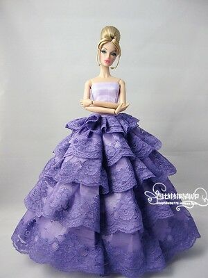 Fashion Royalty Purple Evening Party Dress/gown  for Silkstone Barbie Doll B030!