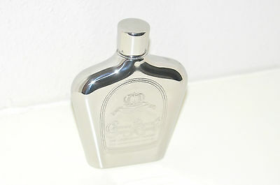 "CROWN ROYAL FLASK 6 OZ STAINLESS STEEL ""The Legendary Import"" - NICE!!"