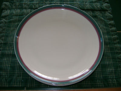 """PFALTZGRAFF USA """"JUNIPER"""" TEAL/ROSE RING SALAD PLATE AWESOME REPLACEMENT PIECES"""