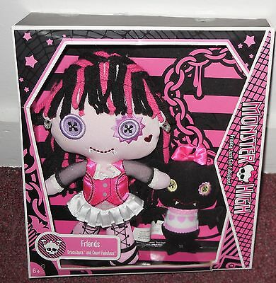 Monster High Draculaura and Count Fabulous friends pack set plush doll