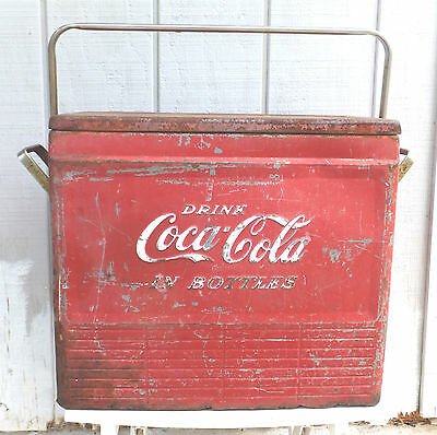 COCA COLA CHEST Great Display Or Restoration Project Circa 1950's