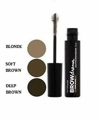 Maybelline BROW DRAMA Sculpting Eyebrow Mascara NEW SEALED ON CARD SELECT SHADE