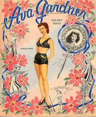 Vintage Uncut 1949 Ava Gardner Paper Dolls Hd Laser Reproduction~No.1 Seller