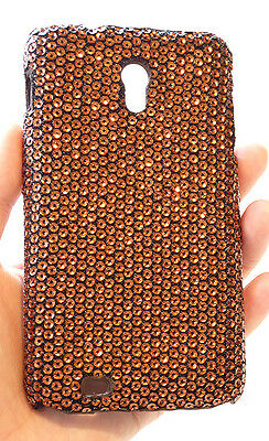 Samsung Galaxy S 2 Epic 4G Touch D710 Bling Bronze Sequin Phone Cover Case +Film