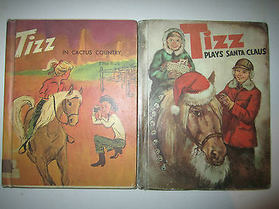 Lot of 2 Tizz in Cactus Country & Plays Santa Claus by Elisa Bialk HARDCOVERS