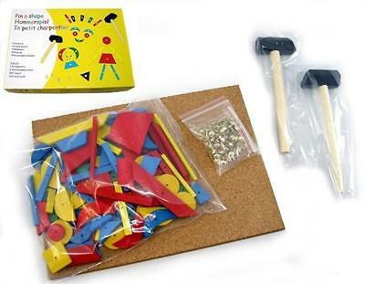NEW Educational TAP A SHAPE Toy Wooden Hammer & Nails