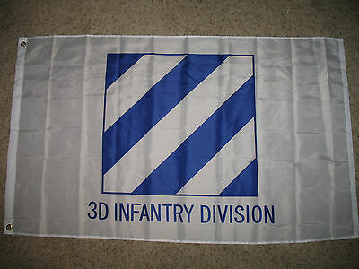 US Army 3D 3rd Third Infantry Division 3x5 3ft x 5ft Flag Banner (Licensed)