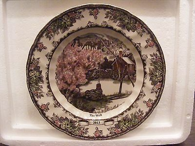 NIB Johnson Brothers Friendly Village Collector Plate 2013/10 inches/The Well
