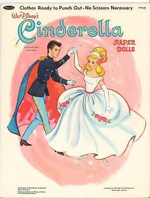 Vintage Uncut 1965 Cinderella Paper Dolls ~Hd Laser Reproduction~No.1 Seller