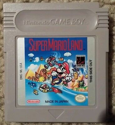 Super Mario Land  (Nintendo Game Boy, 1989) Near Mint - Free Overnight Shipping