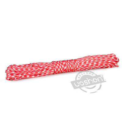 New 25FT 550 Paracord  Red &White Camo Parachute Cord Mil Spec Type III 7 Strand
