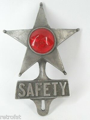 SAFETY STAR LICENSE PLATE FRAME TOPPER TAG BIKE CAR MOTORCYCLE REFLECTOR TRUCK