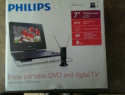 "PHILIPS PET729/37 PORTABLE TV/DVD PLAYER (7"") WHITE"