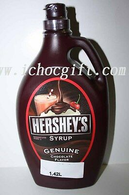 3 x Hershey's CHOCOLATE Flavour SYRUP 1.36L bottle