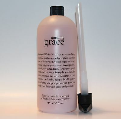 PHILOSOPHY Amazing Grace Shampoo, Bath & Shower Gel 32 oz. NEW with Pump